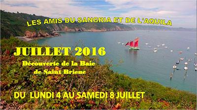 Sangriaquilamis sortie Baie de St-Brieuc du 4 au 8 juillet 2016