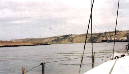 départ de Safi : la côte est plus rocailleuse vers le sud