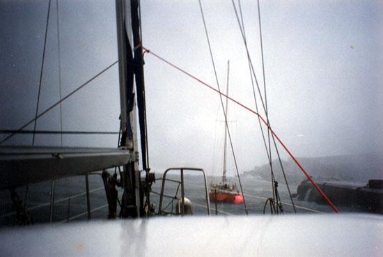"""Les indiens disaient : """"l'esprit du Mal""""  et  Météo-France : """"Erika cyclone classe 1""""  Le port de Lajes sur l'île de Flores archipel des Açores sauvera la vie des deux marins et de l'Express 44."""