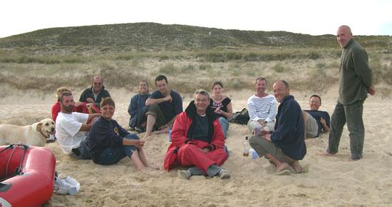 Apéro sur la grande plage de Houat